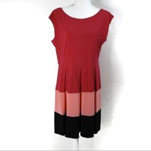 K29 Tiana B. Pink Black Color Black Dress Size 14